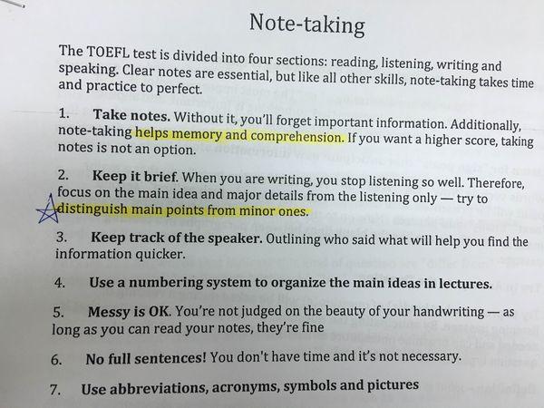 TOEFL-iBT托福116分準備心得&托福補習班推薦 - 分享補習班托福TOEFL老師的上課講義