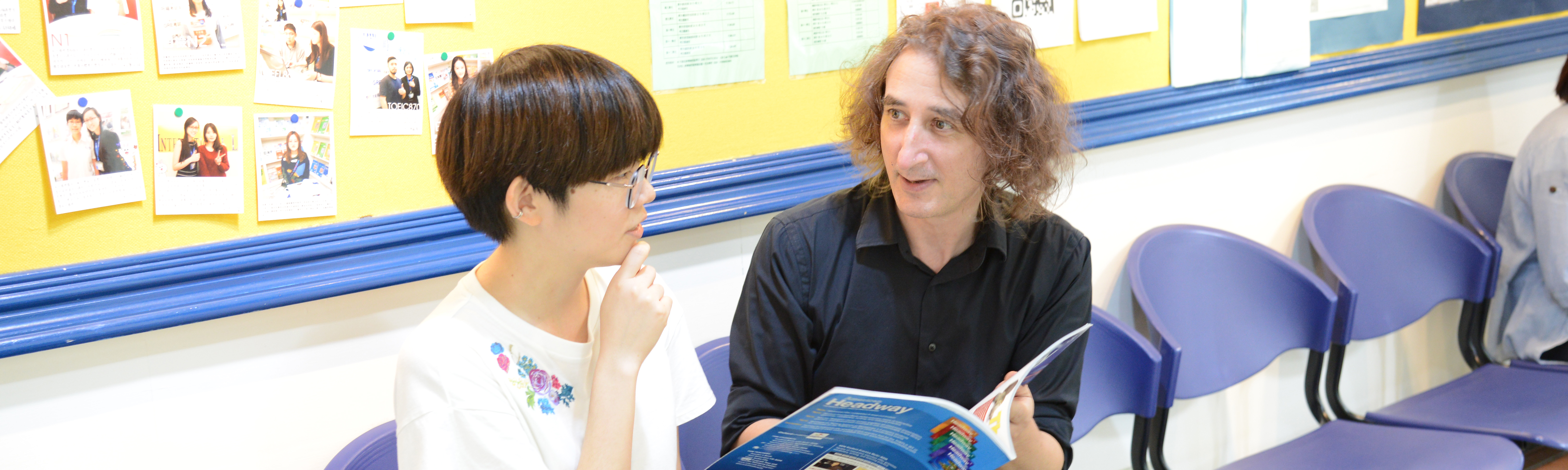 黃同學與雅思口說外師交談互動